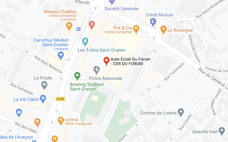 Plan d'accès CER du Forum